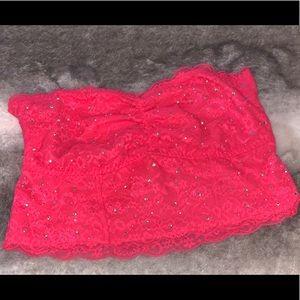 Victoria Secret Rhinestone PINK Bandeau